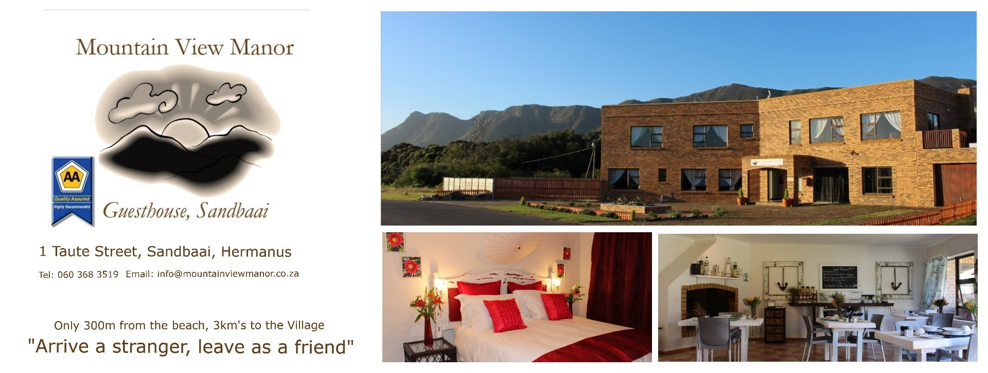 Mountain View Manor, Hermanus Accommodation, Guesthouse, Sandbaai, Western cape, South Africa