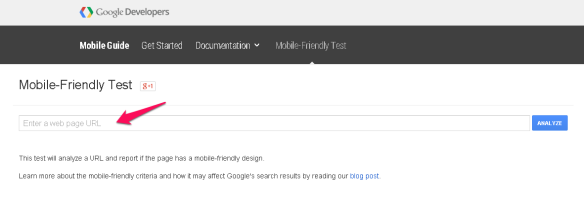 test,mobile friendly, search results