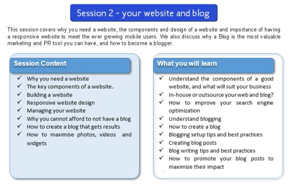 Training, website, blog, Overberg, Google search
